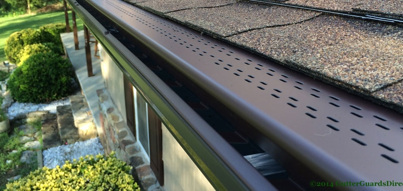 leafree gutter guard with installed on 6 in gutters