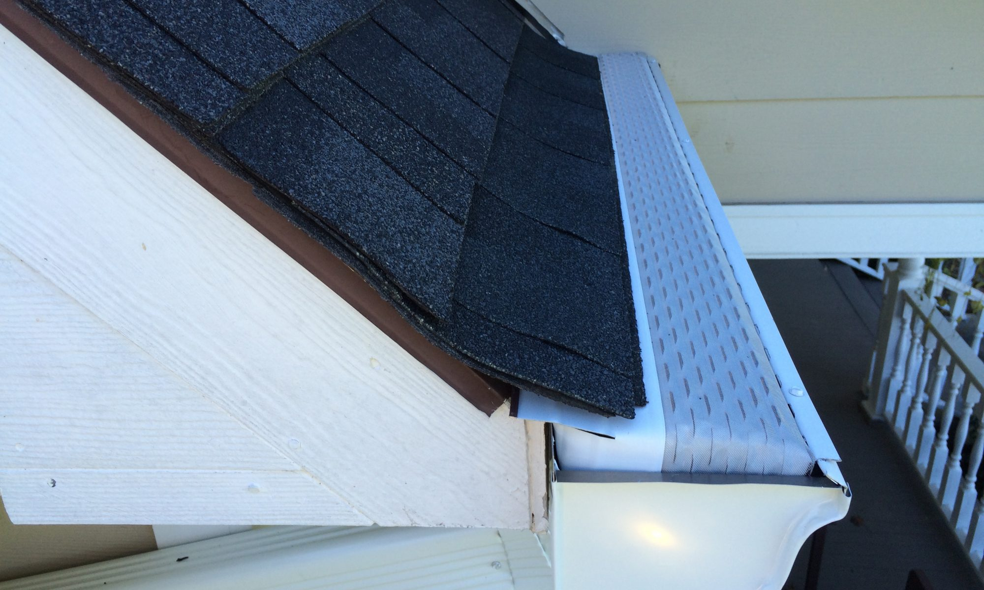 microscreen u.s. gutter guard side angle