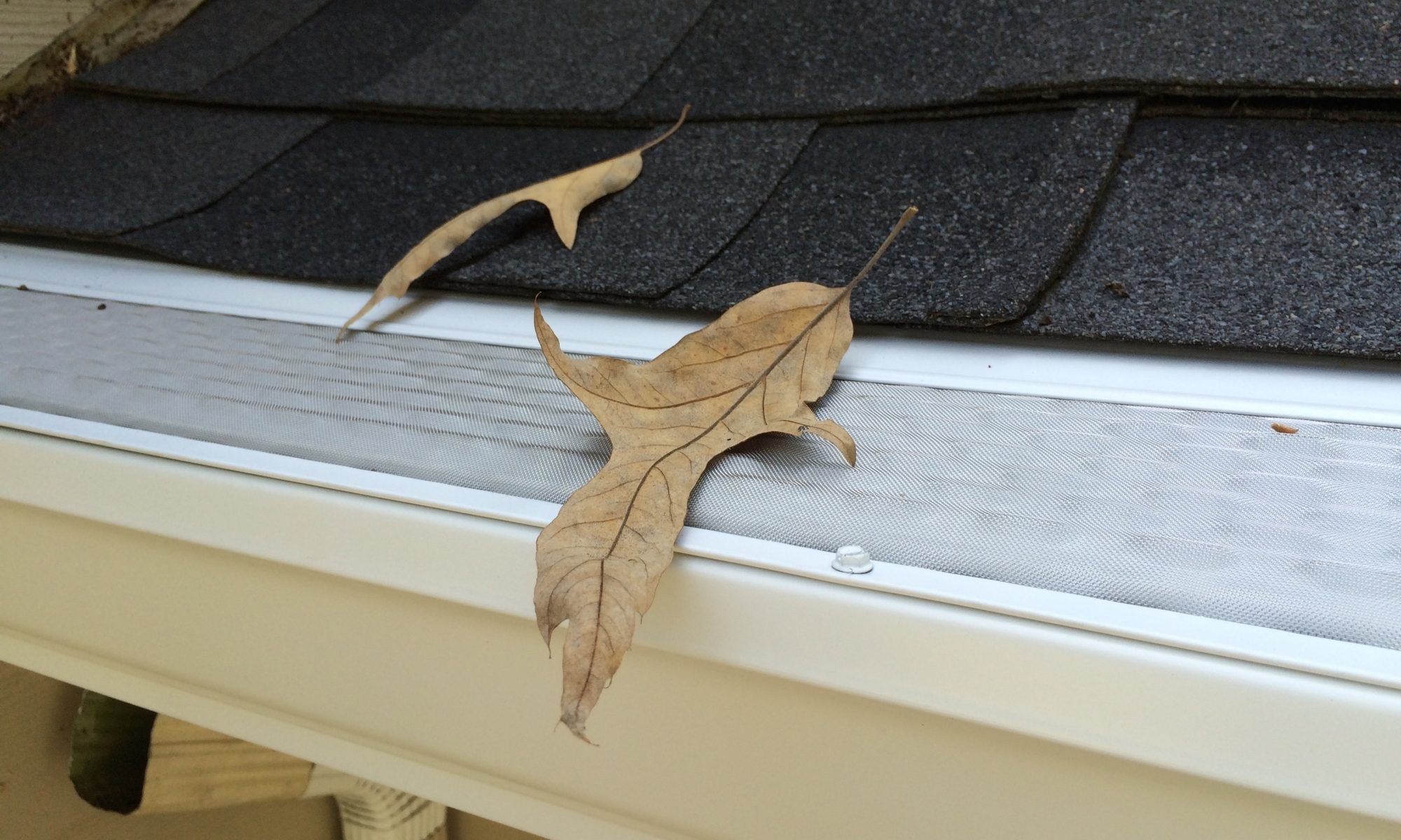 microscreen u.s. gutter guard installed on new 6 inch gutters