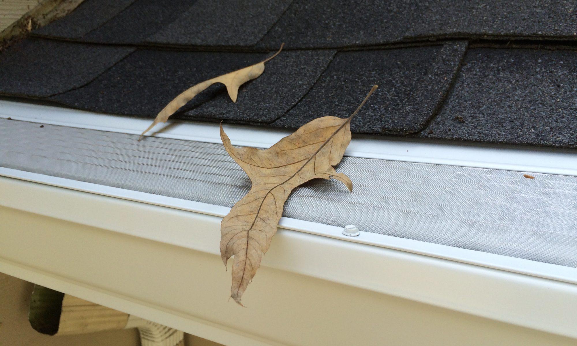 microscreen u.s. gutter guard installed on new 6 inch gutters