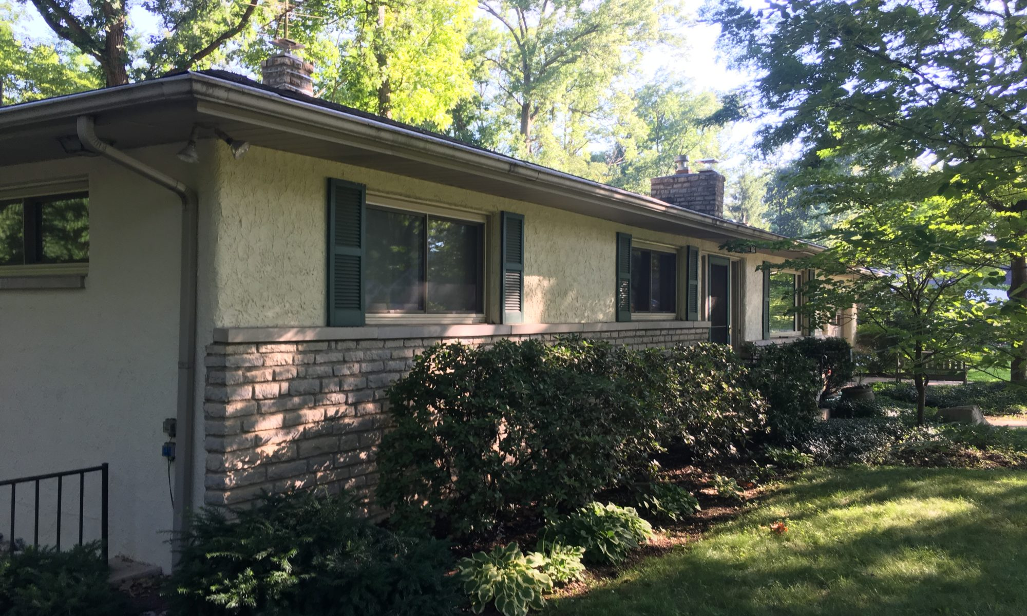 microscreen gutter guards installed on a home in minerva park, ohio