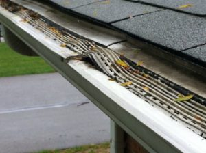 leaffilter Gutter Guard missing its screen and warped from uv rays