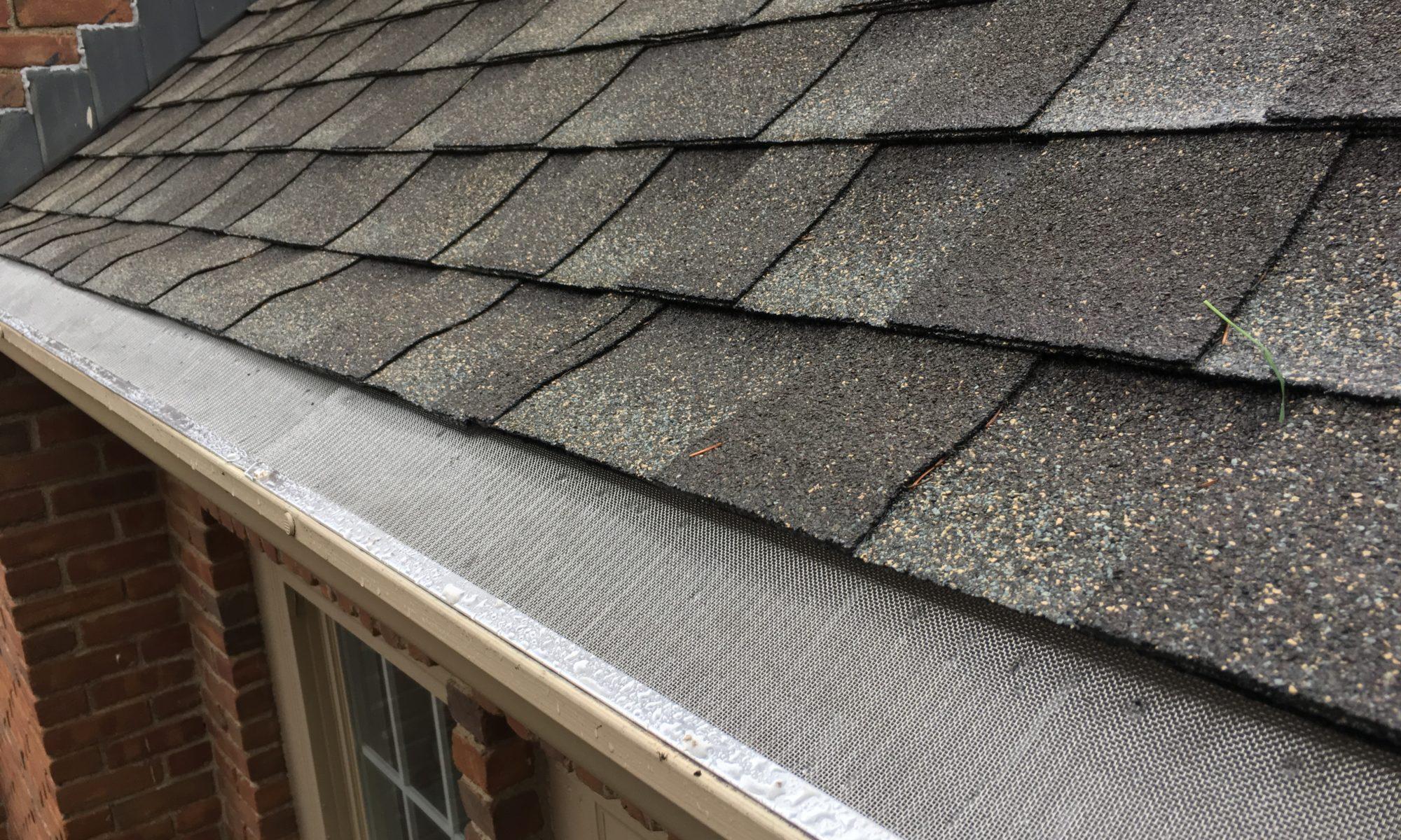 "leaflock micro mesh gutter guard installed on 5"" gutters"